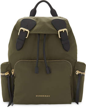 Burberry Medium nylon backpack - CANVAS GREEN - STYLE