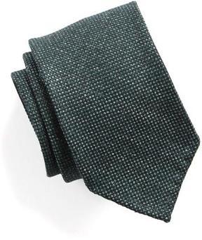 Drakes Drake's Silk Mini Medallion Tie in Green