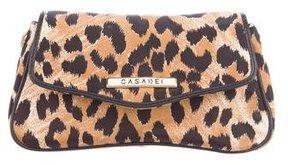 Casadei Leather-Trimmed Wristlet