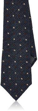 Brunello Cucinelli Men's Polka Dots Wool-Silk Necktie