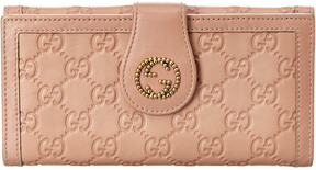 Gucci Pink Guccissima Leather Gg Tab Wallet - ONE COLOR - STYLE