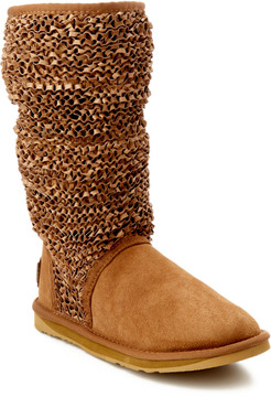 Australia Luxe Collective Macrame Slouch Tall Suede Boot