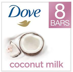 Dove Purely Pampering Coconut Milk with Jasmine Petals Beauty Bar 4 oz, 8 Bar