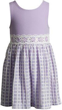 Youngland Toddler Girl Textured Crochet Dress