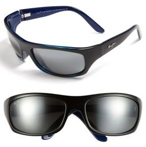 Maui Jim Men's 'Surf Rider - Polarizedplus2' 63Mm Sunglasses - Black