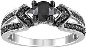 Black Diamond Kohl's Chevron Engagement Ring in Sterling Silver (1 ct. T.W.)