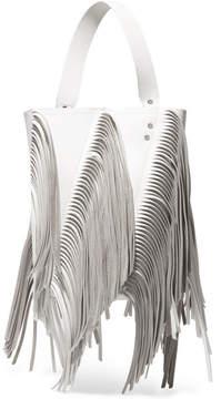 Proenza Schouler Hex Medium Fringed Paneled Leather Tote - White