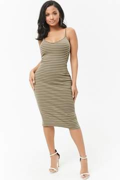Forever 21 Striped Cami Midi Dress