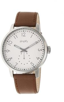 Simplify The 3400 Collection SIM3403 Silver Analog Watch