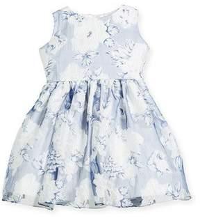 Helena Camellias Organza Sleeveless Dress, Size 12-18 Months