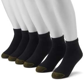 Gold Toe GOLDTOE Men's GOLDTOE 6-pk. Cushioned 1/4-Crew Socks