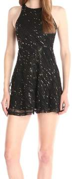 BCBGeneration Women's Metallic Textured Mesh A-Line Dress