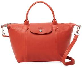Longchamp Women's Le Pliage Cuir Leather Small Top Handle - RED - STYLE