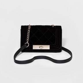 Mossimo Women's Velvet Crossbody Handbag - Mossimo