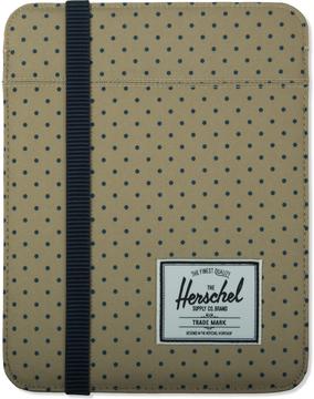 Herschel Khaki Polka Dot/Navy Cypress Sleeve for iPad