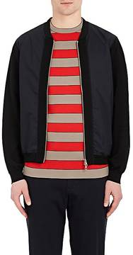 TOMORROWLAND MEN'S TECH-POPLIN & KNIT BOMBER JACKET