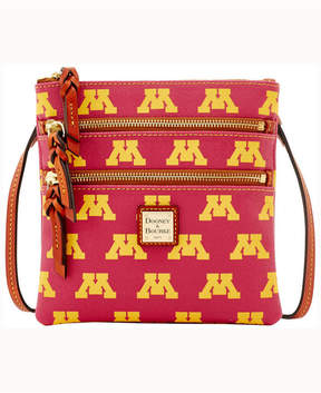 Dooney & Bourke Minnesota Golden Gophers Triple-Zip Crossbody Bag - GOLD - STYLE
