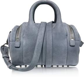 Alexander Wang Mini Rockie Washed Denim Pebble Nubuck Satchel Bag