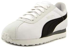 Puma Turin Nl Youth Round Toe Canvas White Sneakers.
