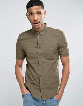French Connection Cotton Shirt with Short Sleeves