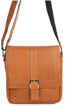 David King Leather 8469 Deluxe Medium Messenger with Buckle
