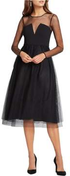 BCBGeneration Womens Mesh Tulle Skirt Semi-Formal Dress
