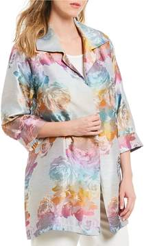 Caroline Rose Ombre Rose Jacquard Jacket