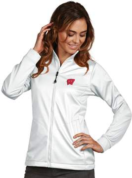Antigua Women's Wisconsin Badgers Waterproof Golf Jacket