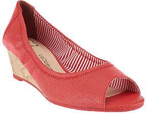 Liz Claiborne New York Slip-on Peep Toe Wedges
