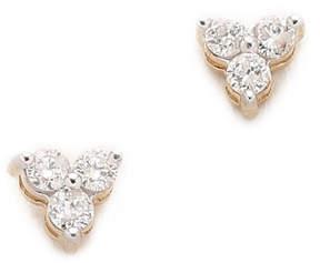 Adina 14k Gold Diamond Cluster Earrings
