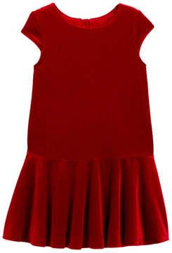 Joe Fresh Cap Sleeve Velvet Flared Dress (Toddler & Little Girls)