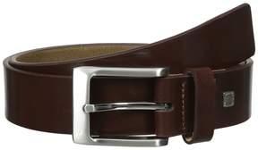 Steve Madden 35mm Burnished Leather Belt Men's Belts