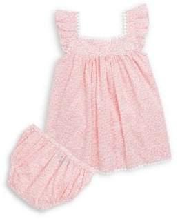 Oscar de la Renta Baby Girl's & Little Girl's Two-Piece Barton Cotton Dress & Bloomers Set