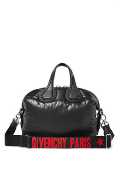 Givenchy Small Nightingale Leather-trimmed Shell Tote - Black