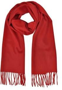 Mila Schon Women's Red Cashmere Scarf.