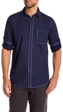 Bugatchi Printed Shaped Fit Shirt