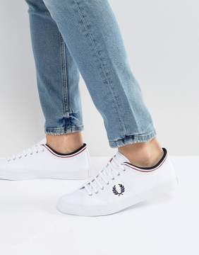 Fred Perry Kendrick Tipped Cuff Canvas Sneakers White
