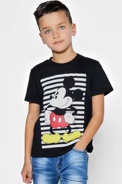 boohoo Boys Disney Mickey Striped Tee