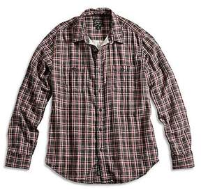 Lucky Brand New Apparel Flathead Workwear Black/Red/Natural S Mens Shirt