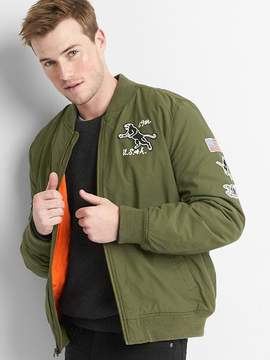 Gap Graphic patch bomber jacket
