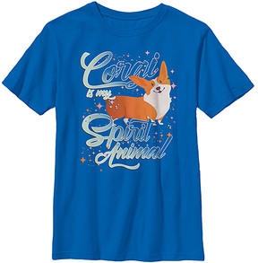 Fifth Sun Royal 'Corgi Spirit Animal' Crewneck Tee - Boys