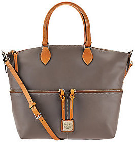 Dooney & Bourke As Is Smooth Leather Satchel - ONE COLOR - STYLE