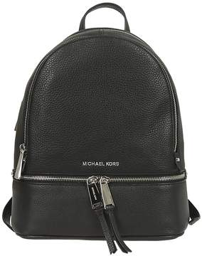 Michael Kors Logo Backpack - NERO/ARGENTO - STYLE