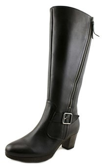 Gabor 92.997 Round Toe Leather Knee High Boot.