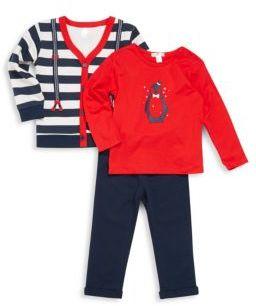 Petit Lem Baby's Three-Piece Sweater, Top & Pants Set