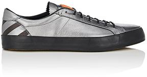 Moncler MEN'S STRIPED-COUNTER METALLIC LEATHER SNEAKERS