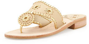 Jack Rogers Nantucket Whipstitch Thong Sandal