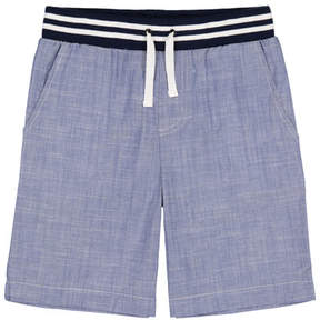 Andy & Evan Chambray Drawstring Jogger Shorts, Size 9-24 Months