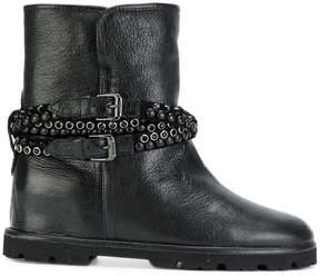 Baldinini studded strap boots