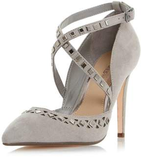 Head Over Heels *Head Over Heels by Dune Grey Cosmos High Heel Court Shoes